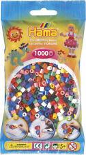 Hama 1000 Midi Bügelperlen 207-00 Mix 10 Grundfarben Ø 5 mm Perlen Steckperlen