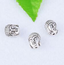 5pcs Tibetan Silver Buddha head Charm Spacer Beads DIY Jewelry Crafts 11x9mm