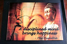 Vintage retro Buddha image & quote A5 metal wall sign motivational inspirational