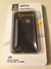 LG Cell Phone Case Optimus Elite LS 696 Black Snap On Case Smart Value New!