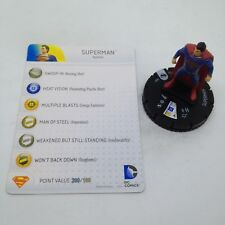 Heroclix Man of Steel Movie set Superman #001 Gravity Feed figure w/card!
