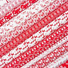 Folk Classics Tela chatarra Pack / Vintage Navidad Scandi Dala Caballo Rojo Blanco