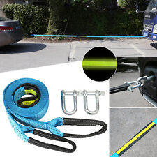 Heavy Duty 7-8Tons Tow Winch Strap Rope Car Boat Trailer Towing w/ U-Shaped Hook