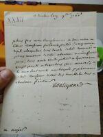1766 28) PREFILATELICA MILITARE LETTERA DA TOULON A CALAIS MARCHESE MONTEYNARD