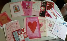 Lot 13 Valentine's Day Greeting Cards & Evelopes Kids Love Friends Hallmark Etc.