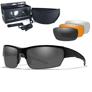 Wiley X - WX Saint Grey/Clear/Light Rust Matte Black Frame Tactical Sonnenbrille