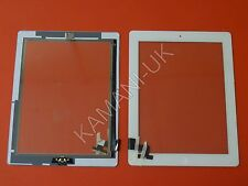 For iPad 2 Touch Screen Digitizer Glass Replacement White with Home Button Full
