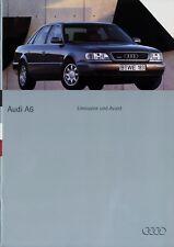 Audi A6 Limousine Avant Prospekt 10/94 1994 Autoprospekt Broschüre brochure Auto