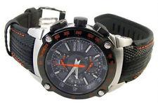 Seiko Sportura Double Retrograde Chronograph Men's Leather Strap Watch