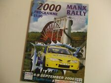 2000 Manx International Rally Official Programme & Entry List