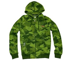 BRAND NEW L-R-G CAMOUFLAGE ZIP UP HOODY GREEN