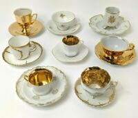 Demitasse Mixed Lot Bavaria Gold Germany France Limoges Winifred Cups/Saucers