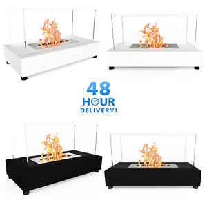 Bio Ethanol Fireplace Indoor Outdoor Camping Glass Top Burner Fire Bari