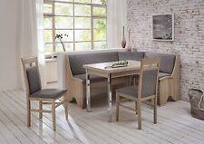 Eckbankgruppe Saskia 4 teilig Essgruppe Tischgruppe Eckbank Tisch Stühle Buche