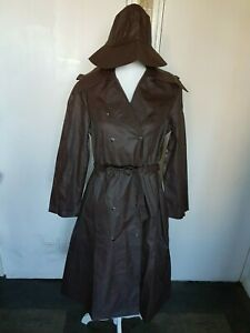 """Womens Helly Hansen Raincoat Trench coat stylish with 2 caps chest 40"""" L 44.5"""" B"""