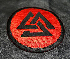 Vikings symbol VALKNUT EMBROIDERED 3 INCH IRON ON PATCH