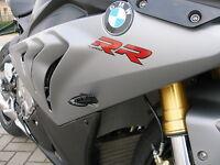 Schwarze LED Blinker Miniblinker BMW S 1000 RR Front plug&play smoked signals