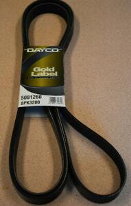 Serpentine Belt Dayco Gold Label Poy Rib Belt 5081260 Dodge Ford Diesel 8PK3200