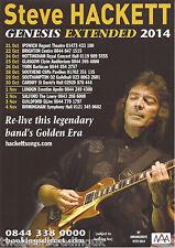 Event Promo Flyer: Steve Hackett - Genesis Extended: UK Tour 2014