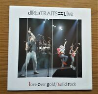 """DIRE STRAITS LIVE Love Over Gold / Solid Rock1984 UK 7"""" VINYL SINGLE IN P/S"""