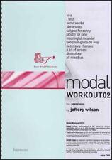 Modal Workout 02 for Saxophone Music Book/CD All Saxes Alto Tenor Eb Bb