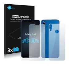 6x Displayschutzfolie Huawei P20 lite (Vorder + Rückseite) Schutzfolie Klar