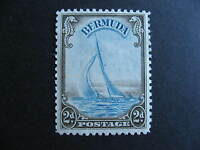 BERMUDA Sc 109 Yacht Lucie MH couple foxing spots, still a nice stamp here!