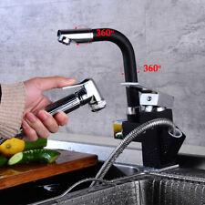 360° drehbar Schwenkbar Küchenarmatur Wasserhahn Spültisch Ausziehbar Brause DE