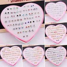 36/Pairs Set Mixed Flower Ear Stud Earrings For Kids Girls Women Flower Jewelry
