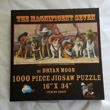 DOG PUZZLE The Magnificent Seven by Bryan Moon 1000 pc Jigsaw Puzzle
