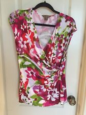 Tommy Bahama Women's Faux Wrap Sleeveless Shirt Medium Floral