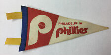 early 1970's PHILADELPHIA PHILLIES felt pennant ~ about 7 inches long