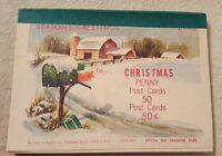 11 vintage Christmas penny postcards Pratt & Austin