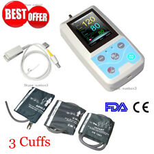Portable Patient Monitor Vital Signs NIBP SPO2 Pulse Rate Meter 3 Cuffs USA PM50