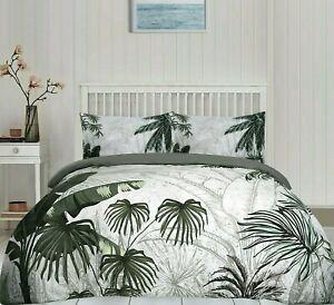 Boscage Jungle Botanical Palm Leaf Trees Duvet Cover Pillowcase Bedding Set