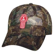 Kenworth Motors Trucks All Mesh Trucker Camouflage Camo Hunting Cap/Hat