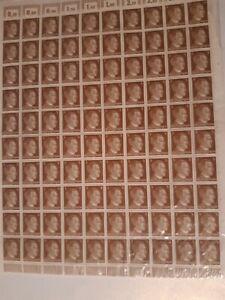 Germany Nazi 1940 1944 Stamps MINT  Sheet Adolf Hitler WWII Third Reich German