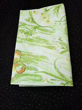 New listing Vintage Pillowcase Butterfly Flowers Green Standard Size by Bibb