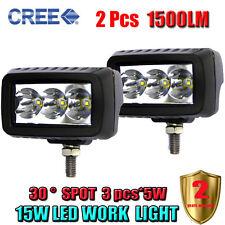 2 x 15W Led Light Bar Spot Beam Work Light 4WD ATV Off-road Driving Lamp PICKUP