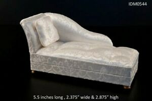 CHAISE LOUNGE SILK LIVING ROOM DOLLHOUSE MINIATURES 1:12 SCALE