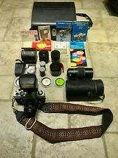 Praktica MTL 3 Electronic Camera With Lenses, Accessories and Travel Case