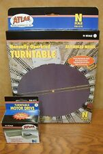 ATLAS MODEL RAILROAD N SCALE TURNTABLE and TURNTABLE MOTOR DRIVE