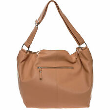 DEPECHE Large Tan Leather Shoulder Bag rrp £180 - New with Tags