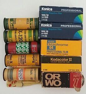 10 vintage 120 films old expired retro film lomography kodak ektachrome fuji