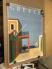 GREECE OLYMPIA ORIGINAL  1975  TRAVEL POSTER 31x35cm