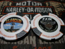 White Black Orange 115th Anniversary Poker Chip 1st Capital Harley Davidson York