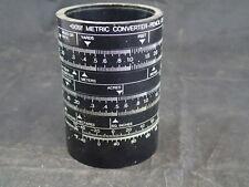 VTG Ole Jorgensen Creative Workshop Desk Pencil Cup Slide Ruler Metric Converter
