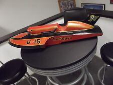 U-15 My Gypsy Vintage Unlimited Hydroplane Hand Carved Racing Boat Model HUGE