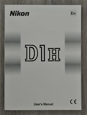 Nikon D1h notice d'utilisation - user's manual - english - comme neuf