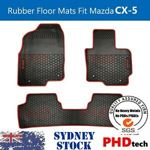 Premium Quality Mazda CX-5 2012~2017 All Weather Rubber Car Floor Mats RED